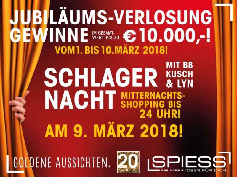 20 Jahre SPIESS Modehaus Eppingen - Schlagernacht mit BB Kusch & Lyn
