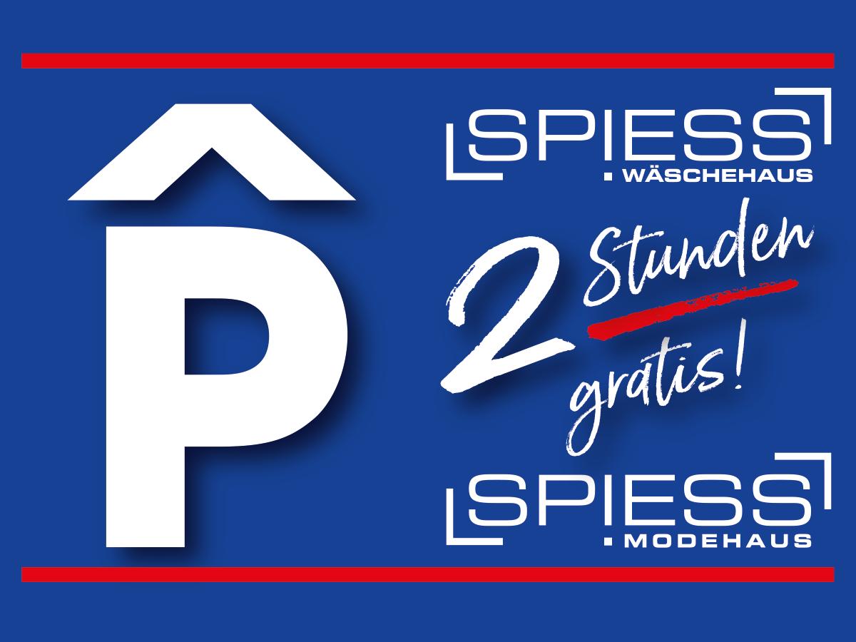 SPIESS Modehaus Eppingen Parkhaus für Kunden frei!