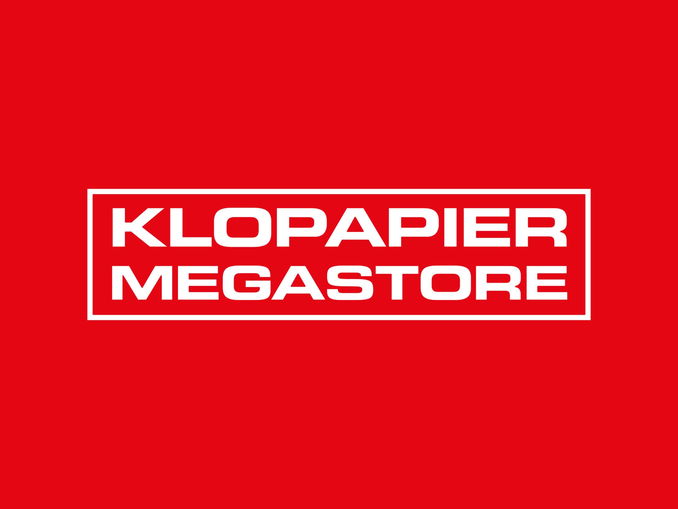 Klopapier Megastore im SPIESS Modehaus Eppingen