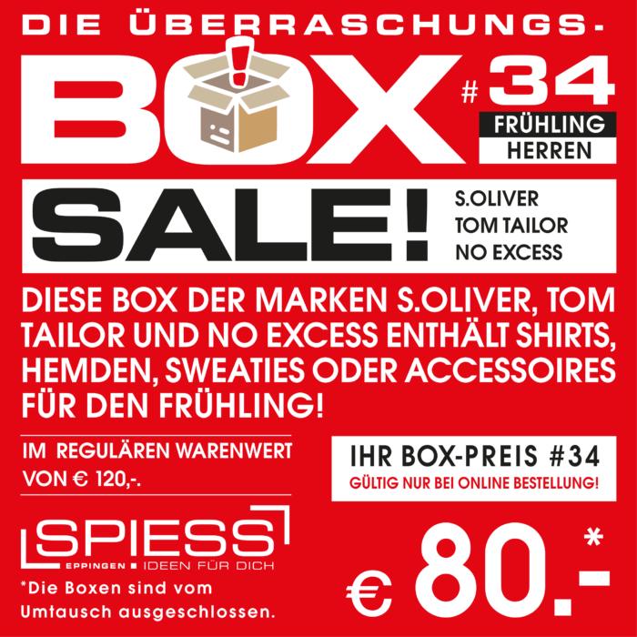 Überraschungsbox #33 s.Oliver, TOM TAILOR & NO EXCESS   SPIESS Modehaus Eppingen