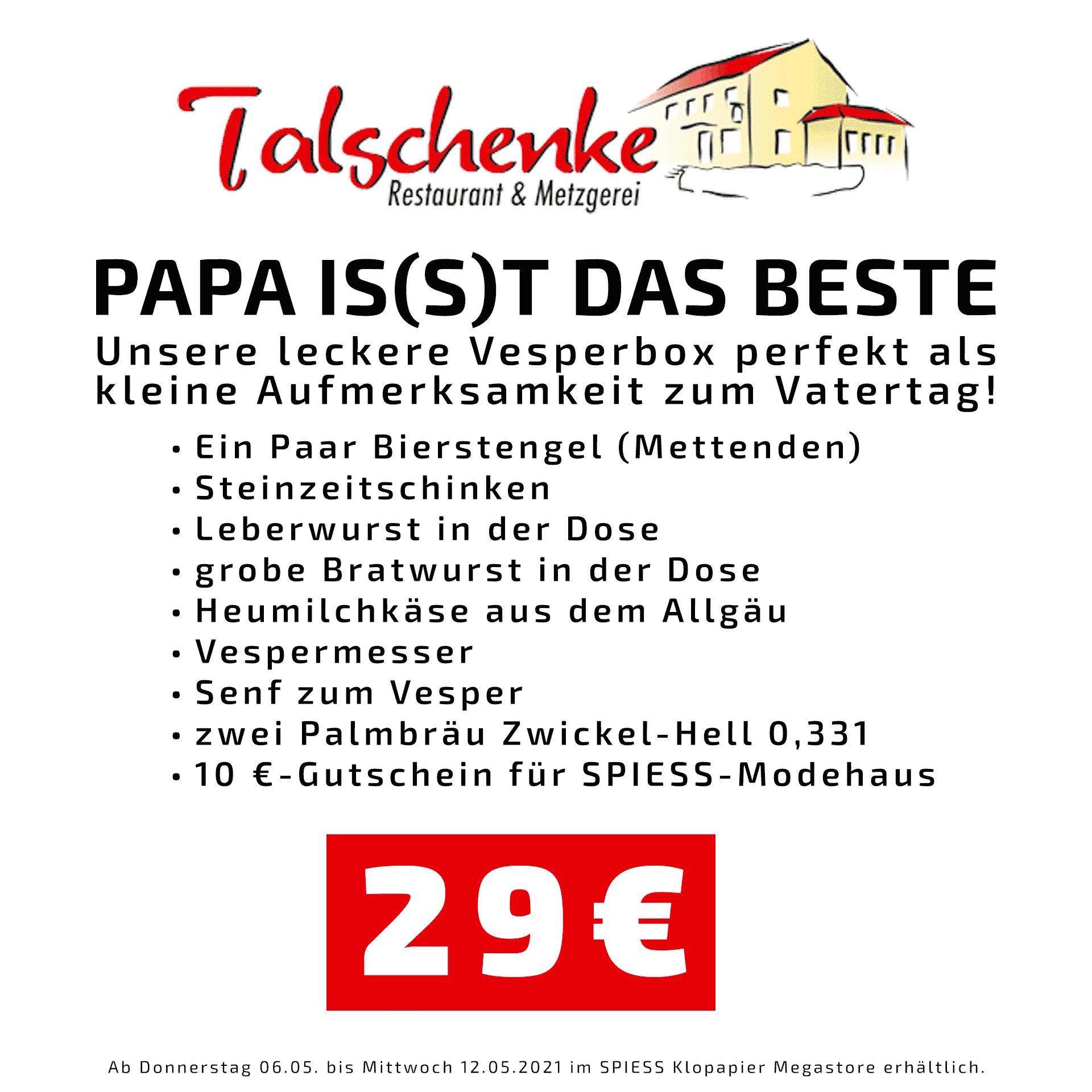 Vatertag Geschenkbox Talschenke | SPIESS Modehaus Eppingen